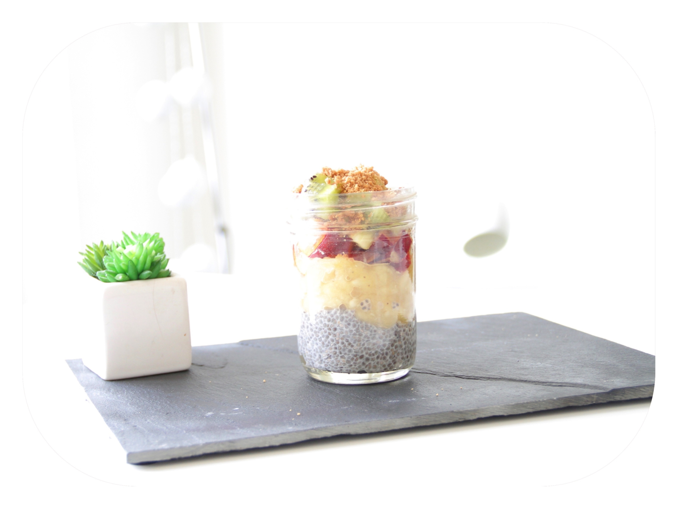 recette pudding chia fruits