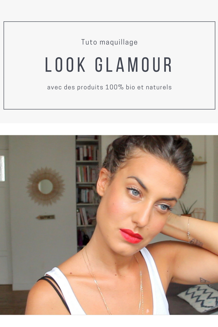 Je vous présente aujourd'hui un tuto simple et rapide pour un look glamour. Zoom sur la bouche cette fois avec un joli rouge à lèvres. Découvrez comment reproduire ce look avec des produits naturels et bio