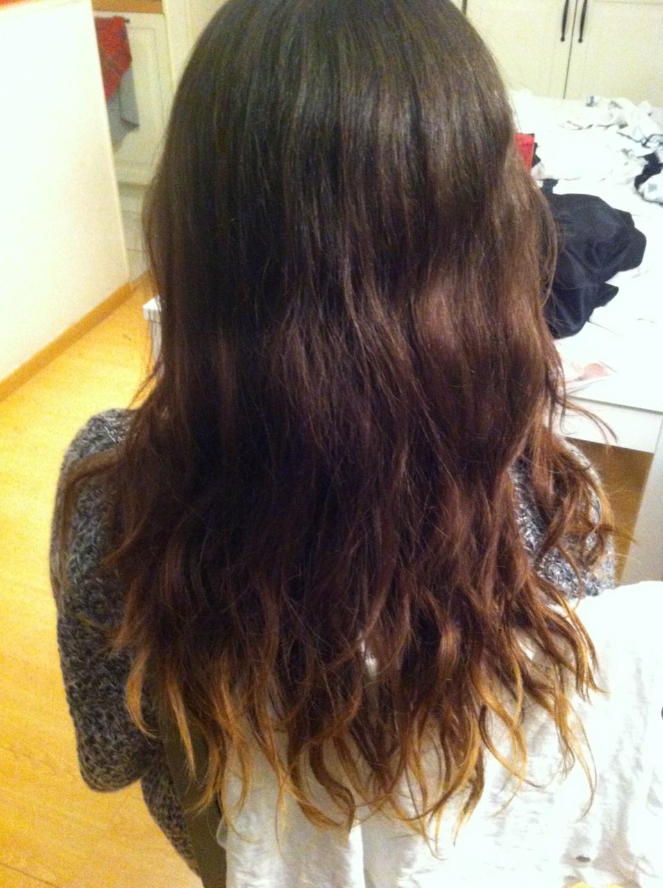 mes cheveux avant