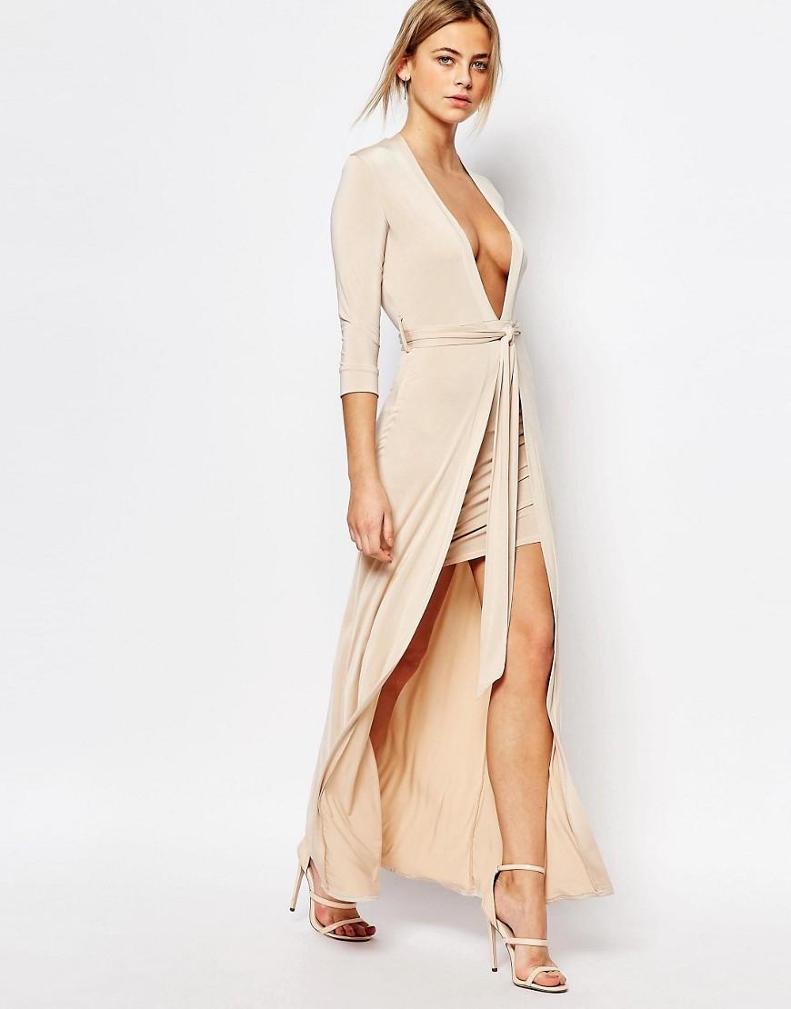 robe longue décolleté