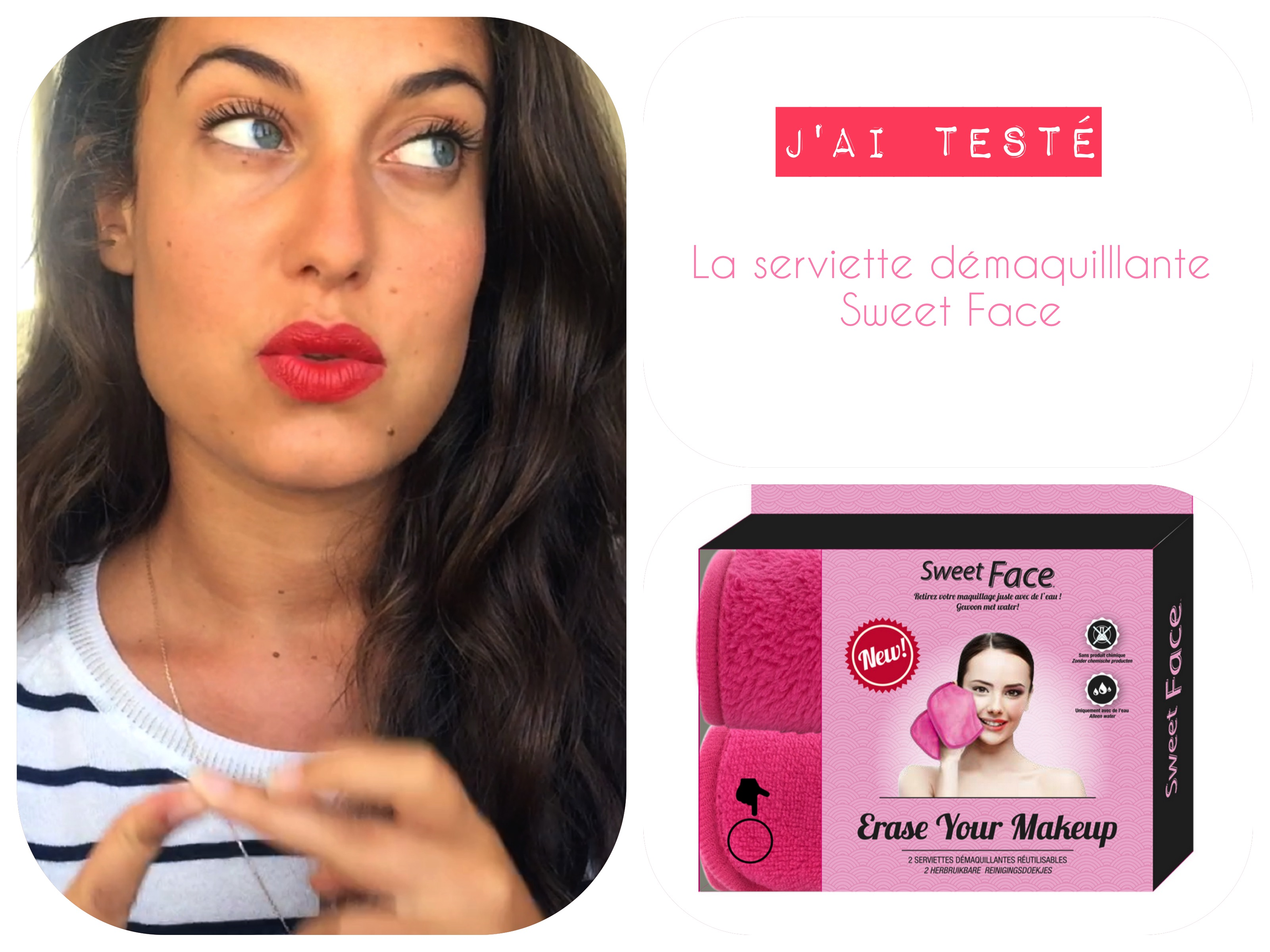 test serviette sweet face