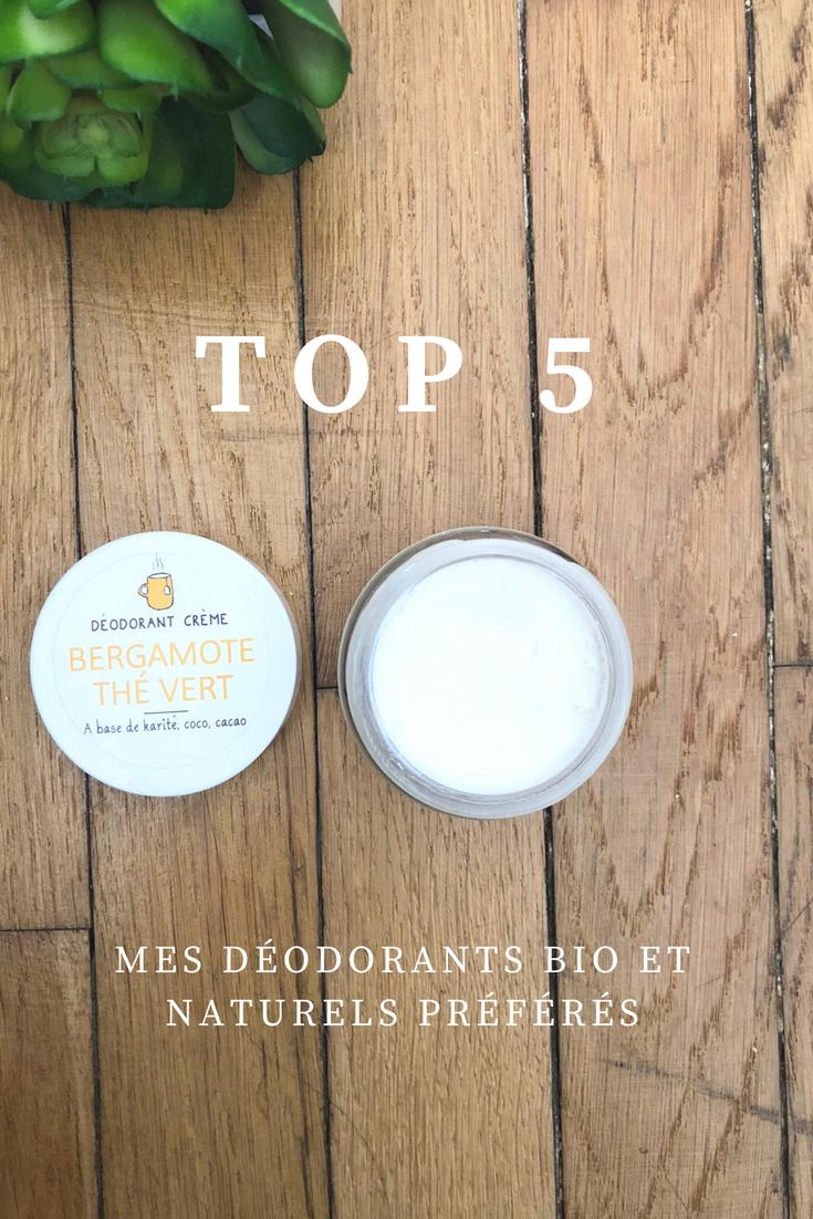 Voici une liste des 5 déodorants bio et naturels que je préfèrent. Bonne composition, efficaces et sains, ils ont tout pour vous plaire