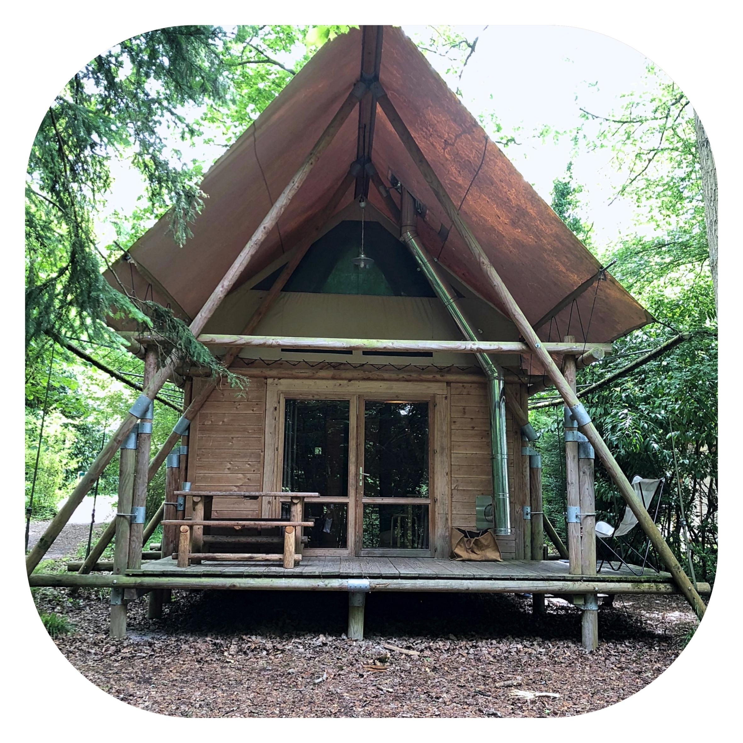 week end nature chez Huttopia pour se ressourcer dans une jolie cabane