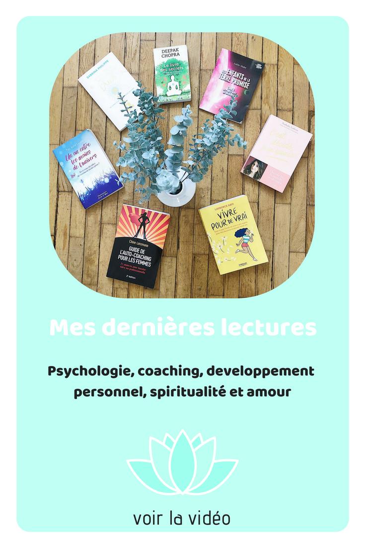 Je vous présente aujourd'hui mes dernières lectures : psychologie, coaching,développement personnel, spiritualité, amour...