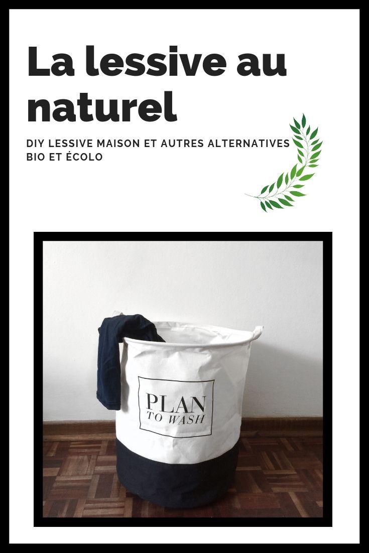 """Aujourd'hui je vous propose 4 solutions pour passer à la lessive """"au naturel"""".Je vous propose ici une recette DIY pour réaliser votre propre lessive maison, mais également de jolies solutions alternatives bio et écologiques."""