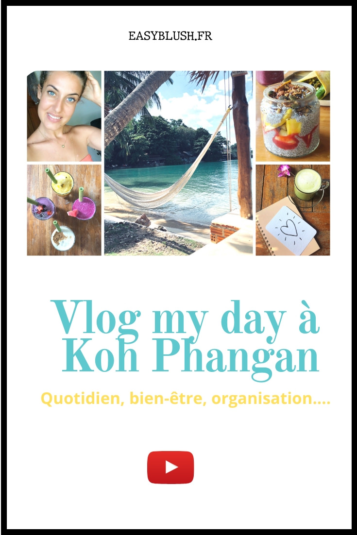 Pour cette première vidéo de l'année 2020, j'ai eu envie de vous emmener avec moi pendant une journée à Koh Phangan, une petite île thaïlandaise sur laquelle je vis quelques mois par an. Au programme : de la nature, ma routine matinale, des idées de plats vegan, des jolis paysages, ma façon de m'organiser quand je travaille à la maison... Allez, c'est parti pour une journée au soleil 🌞