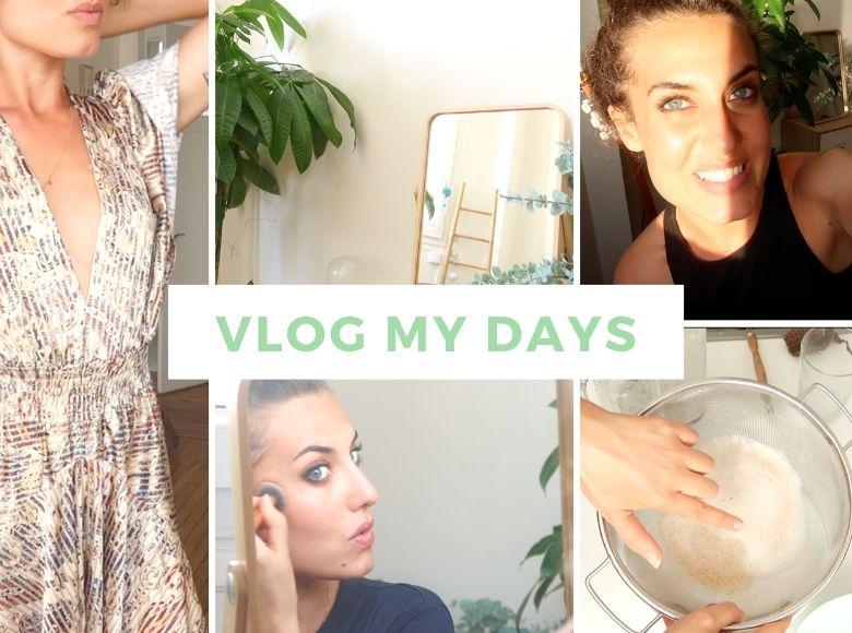 """Maquillage au naturel, des idées recettes, de la seconde main, routine sportive, routine beauté, des partages de réflexion. Aujourd'hui je vous propose un nouvel épisode de """"Vlog my days""""."""