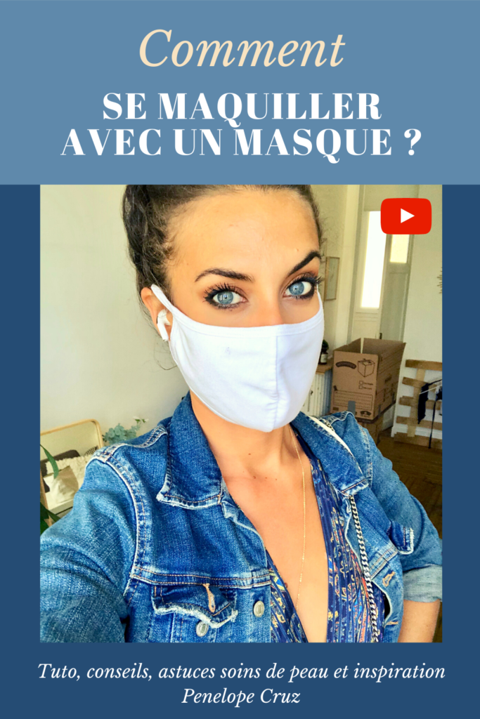 Maquillage, masque et soin de la peau. Smoky inspiré de Penelope Cruz